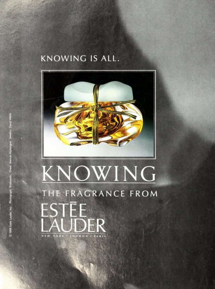 Vintage Estee Lauder Knowing fragrance from 1989