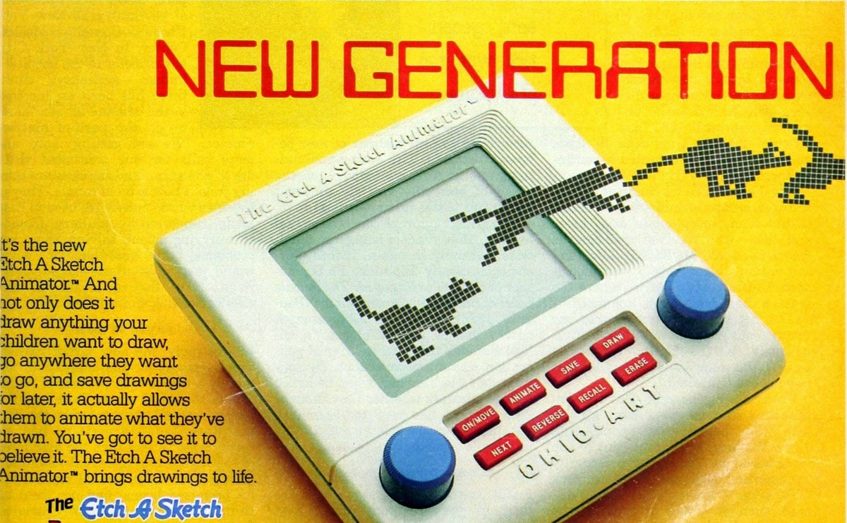 New Generation: Vintage Etch a Sketch electronic toy from 1987
