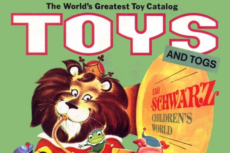 Vintage FAO Schwarz toy catalog Favorite fun stuff for 60s kids