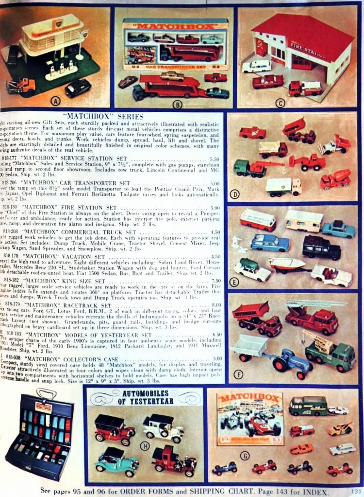 Vintage FAO Schwarz toy catalog - Matchbox cars 1966-1967