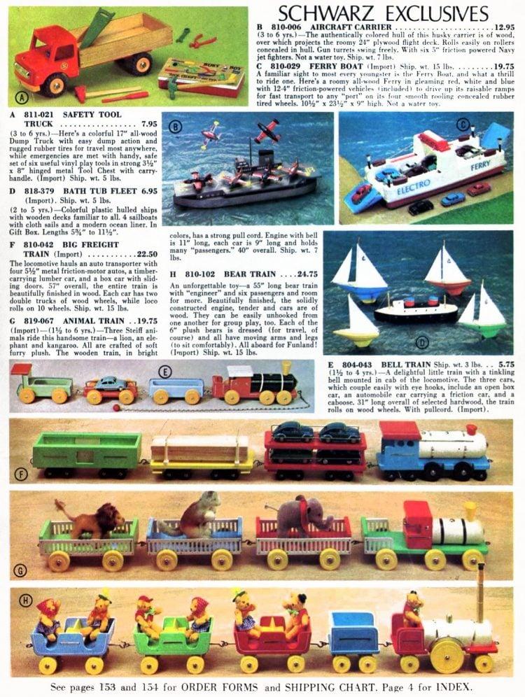 Vintage FAO Schwarz toys 1967
