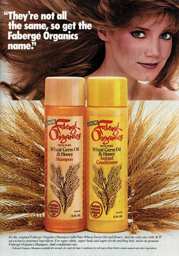 Vintage Faberge Organics Shampoo and conditioner - 1982