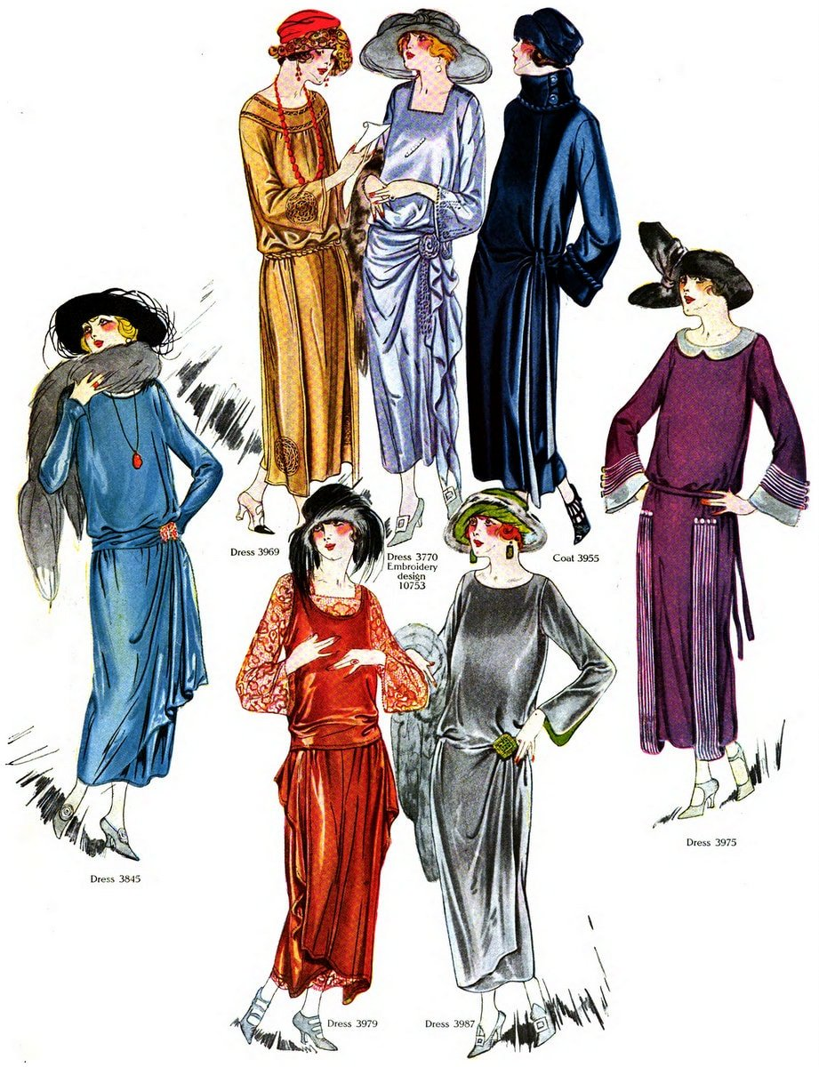 Vintage Fall-winter 1922 clothing styles for women (2)