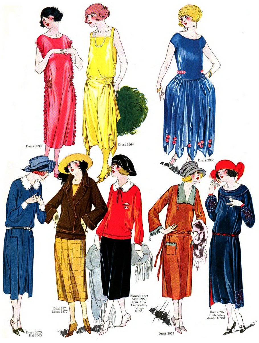 Vintage Fall-winter 1922 clothing styles for women (3)