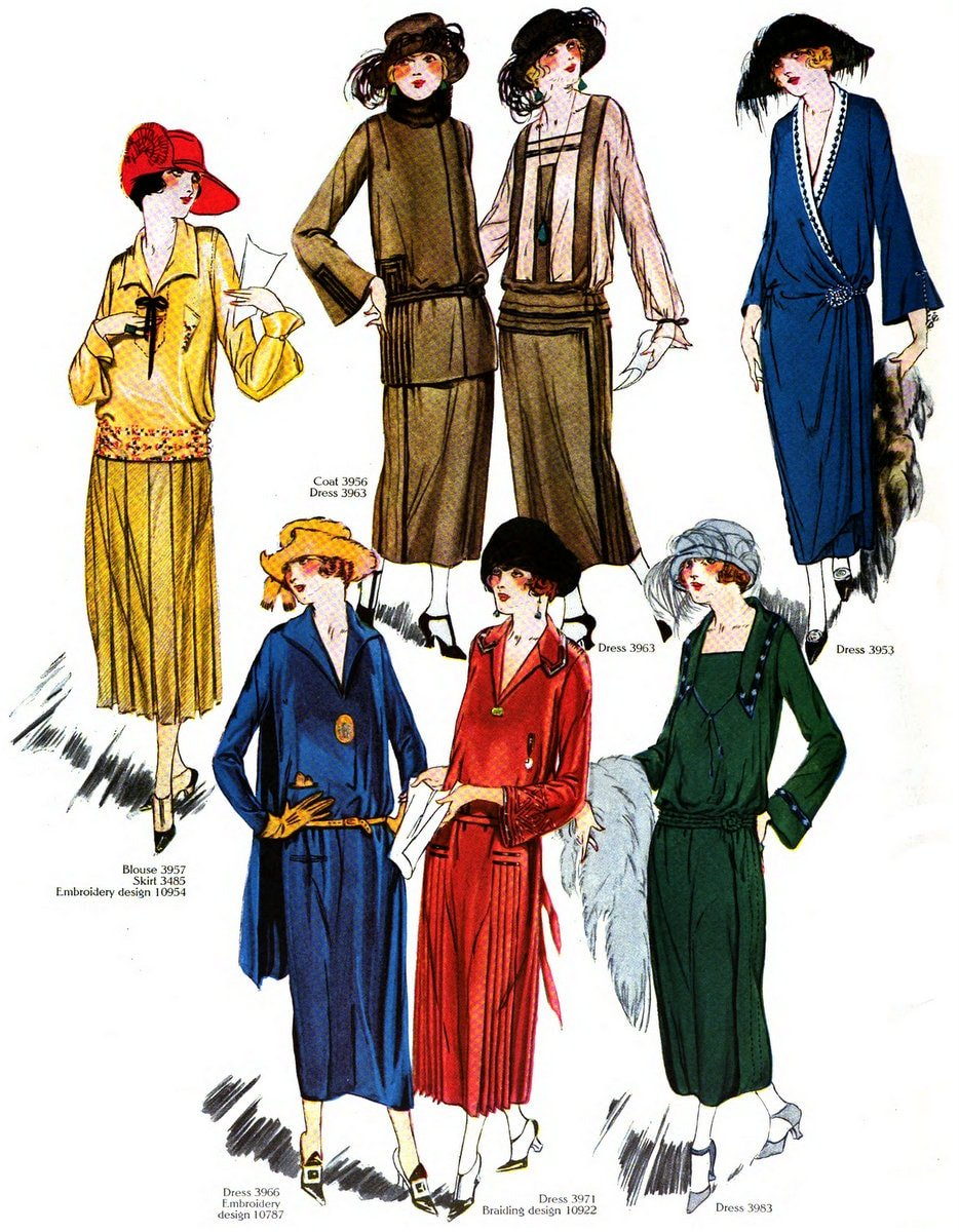 Vintage Fall-winter 1922 clothing styles for women (4)