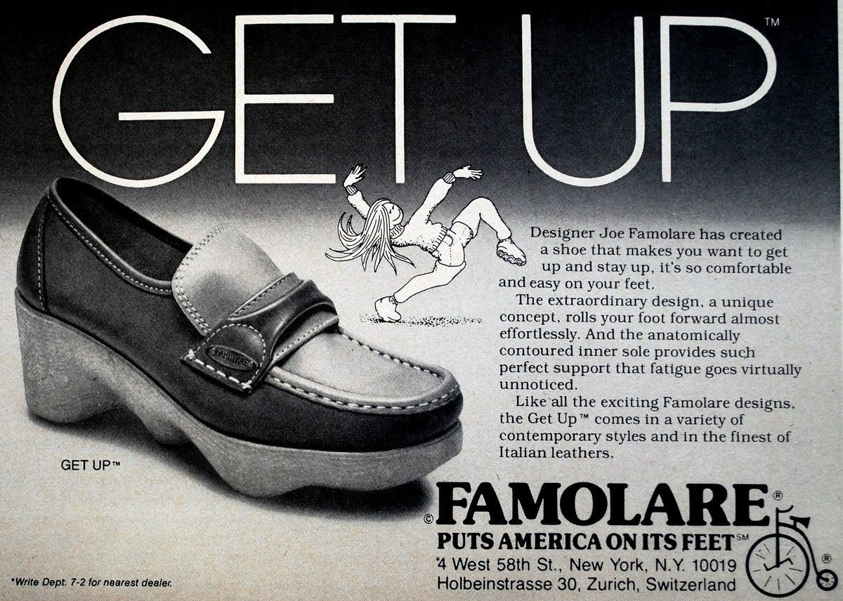Vintage Famolare shoes for women from 1978