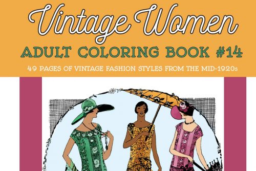 Vintage Fashion from the Mid-1920s Vintage Women Adult Coloring Book 14