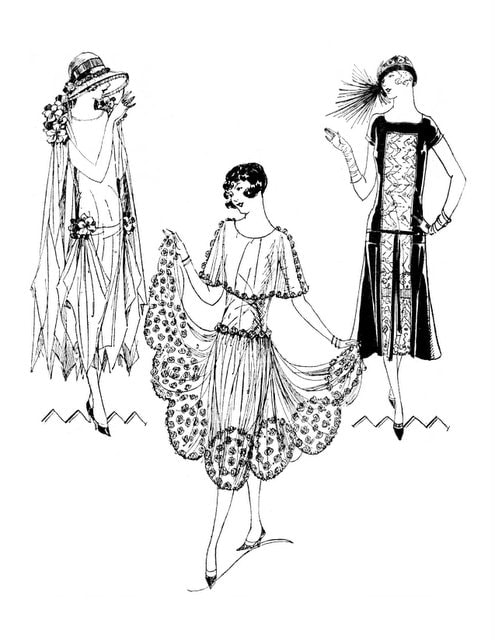 Vintage Fashion from the Mid-1920s - sample pages (1)