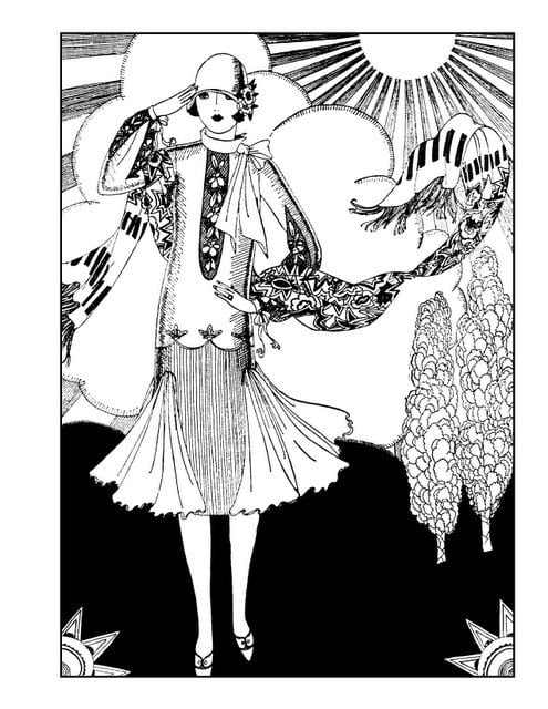 vintage dress coloring pages | Click Americana's Shop - Vintage coloring books and more!