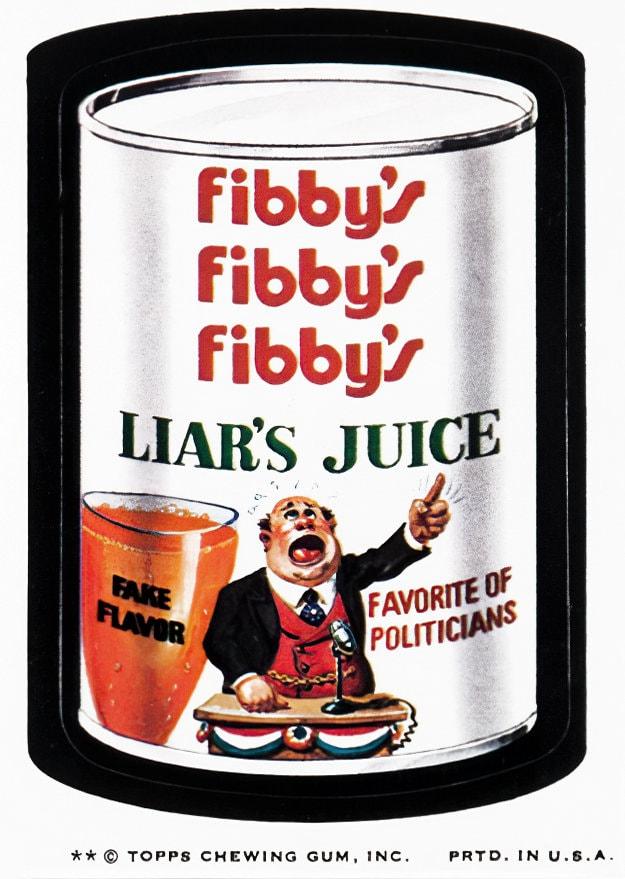 Vintage Fibby's Liar's Juice - Wacky Packages (1970s)