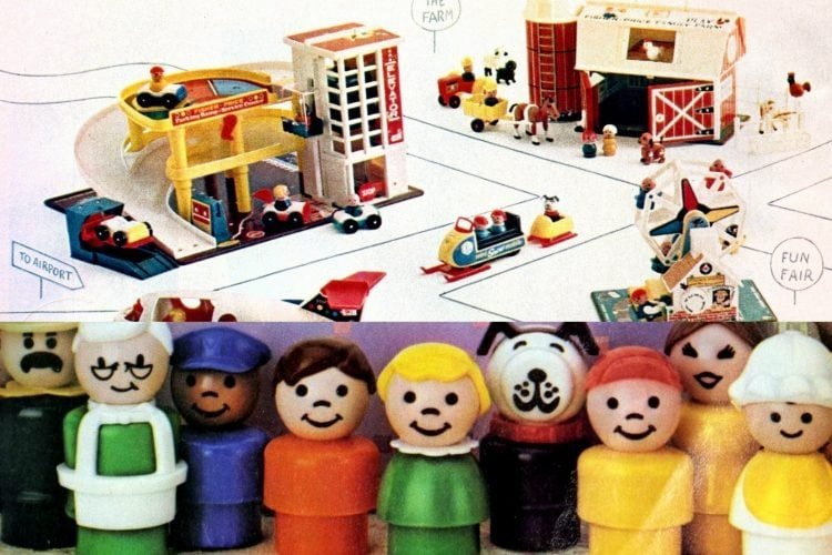 Vintage Fisher Price LIttle People play sets