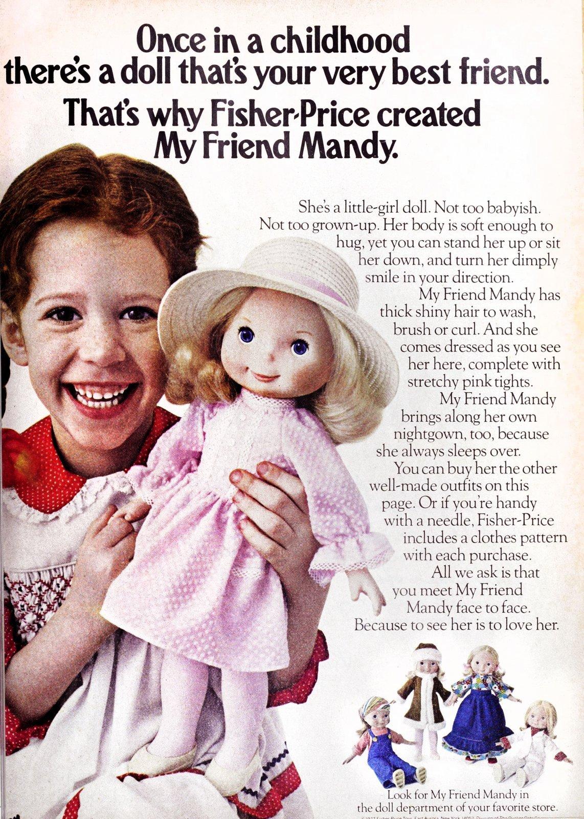 Vintage Fisher-Price My Friend Mandy doll (1977)