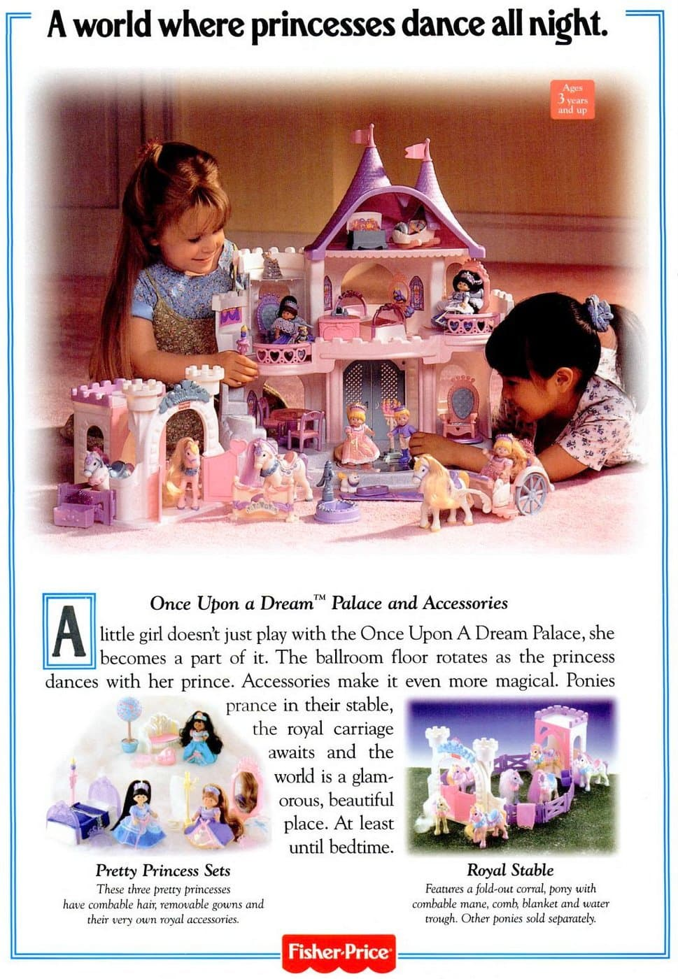 Vintage Fisher Price Once Upon a Dream dollhouse (1996)