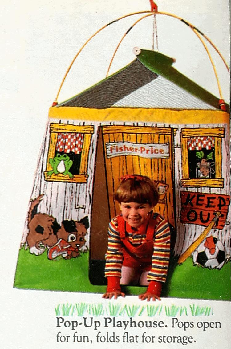 Vintage Fisher-Price Pop-Up Playhouse (1988)