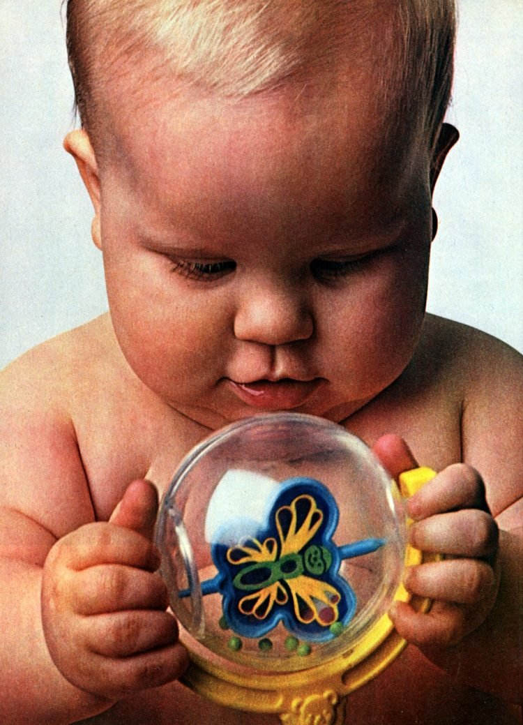 Vintage Fisher-Price baby toys from 1980s