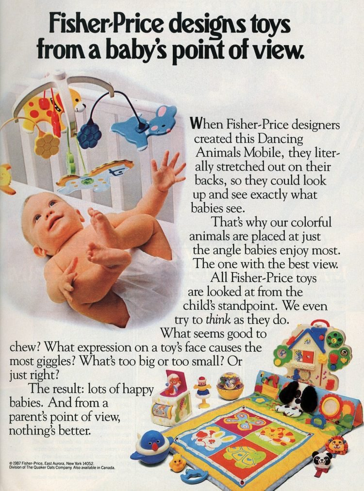 Vintage Fisher-Price baby toys from 1987
