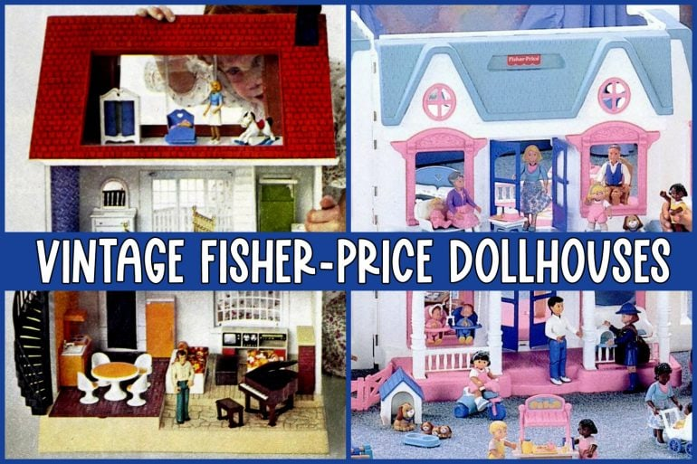 Vintage Fisher-Price dollhouses
