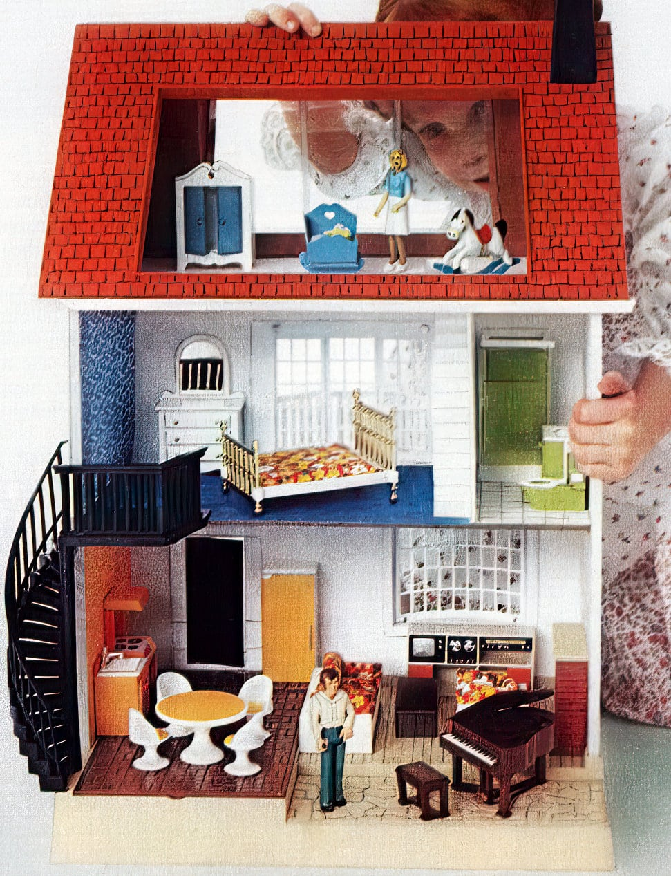 Vintage Fisher-Price toy dollhouse