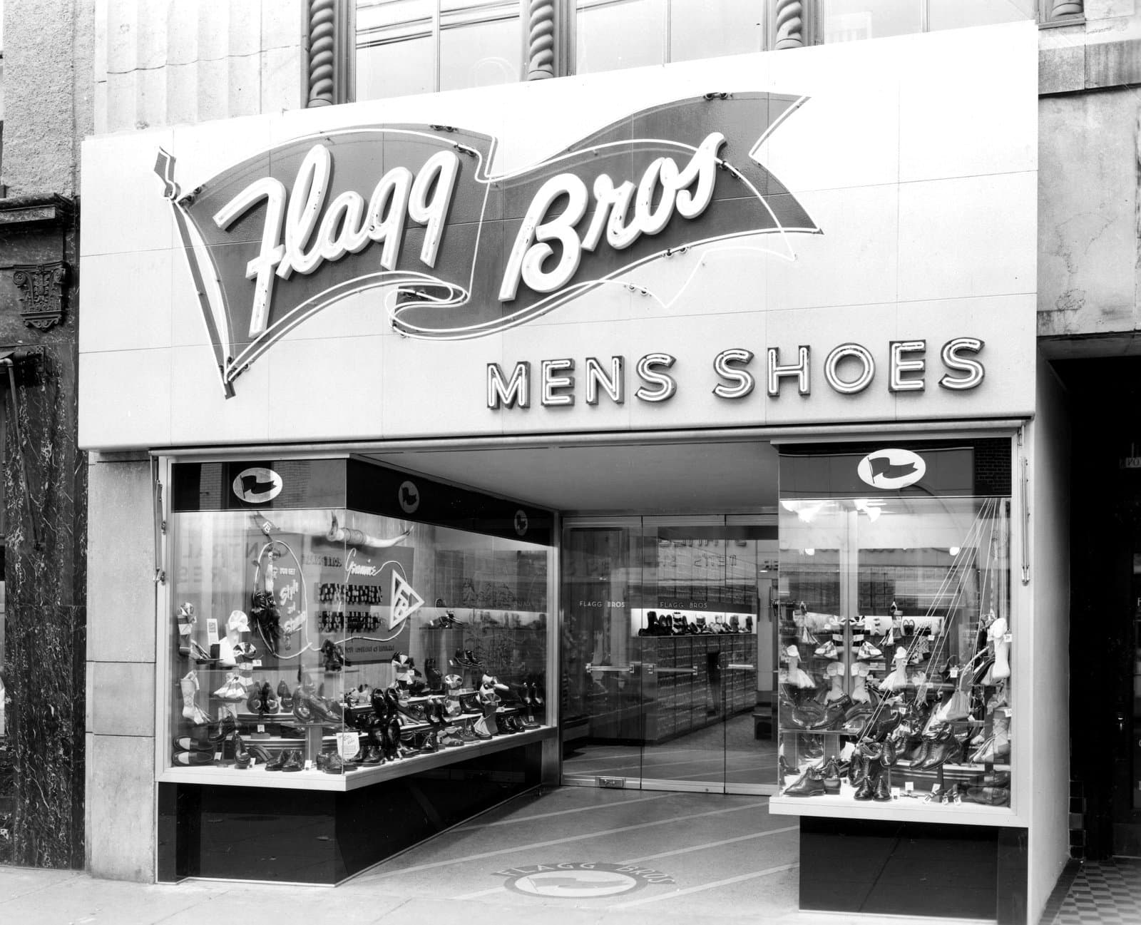 Vintage Flagg Brothers shoe store (c1950s)