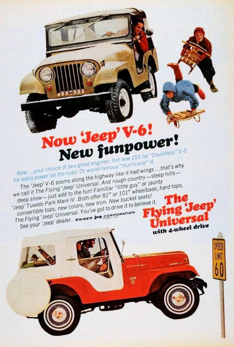 Vintage Flying Jeep Universal - 1960s