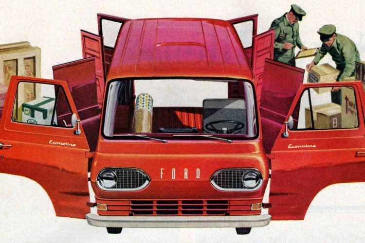 Vintage Ford Econoline Vans from 1963
