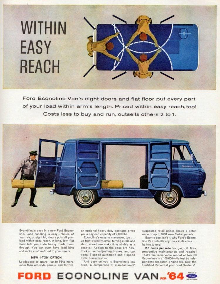 Vintage Ford Econoline Vans from 1964