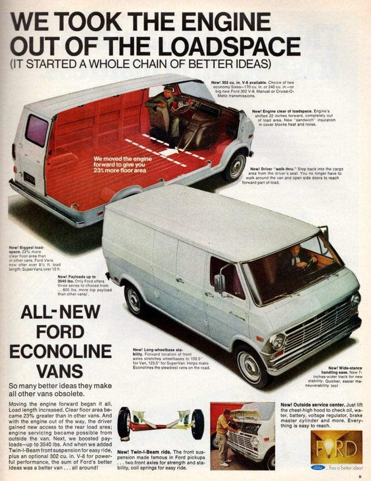 Vintage Ford Econoline Vans from 1968