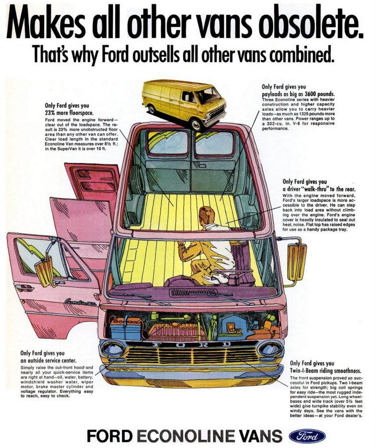 Vintage Ford Econoline Vans from 1969