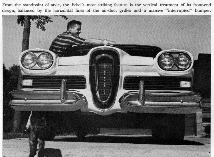 Vintage Ford Edsel car test drive in 1957 (1)