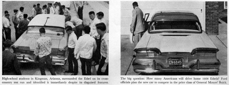 Vintage Ford Edsel car test drive in 1957 (2)