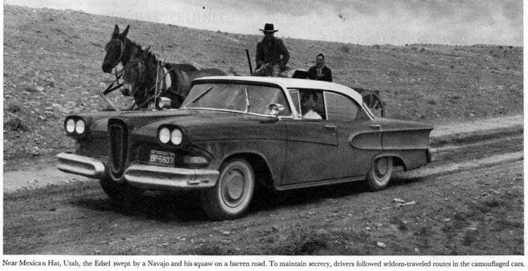 Vintage Ford Edsel car test drive in 1957 (3)