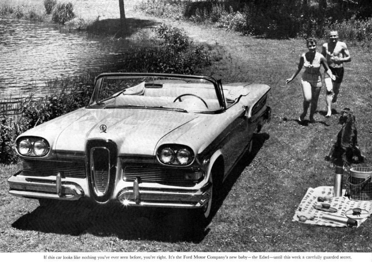 Vintage Ford Edsel car test drive in 1957 (4)