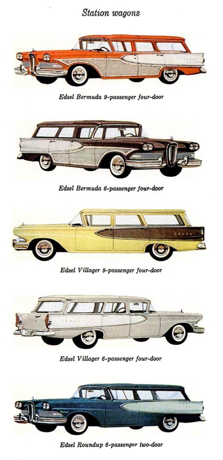 Vintage Ford Edsel station wagons
