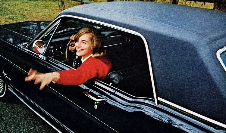 Vintage Ford Mustang cars targeted to women in 1966