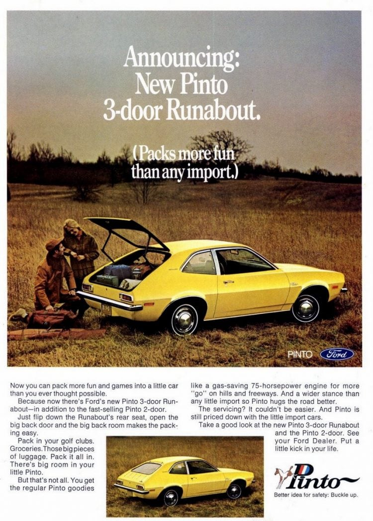 Vintage Ford Pinto cars for 1971