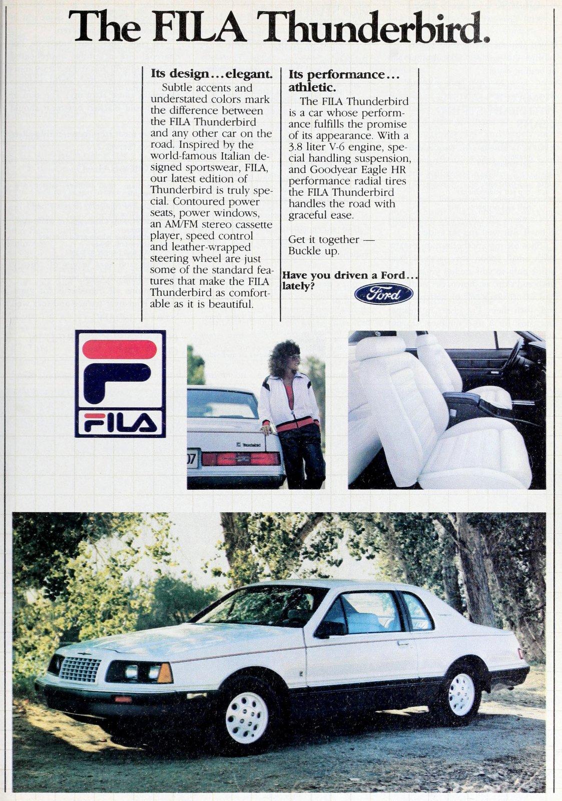 Vintage Ford Thunderbird Fila (1984)