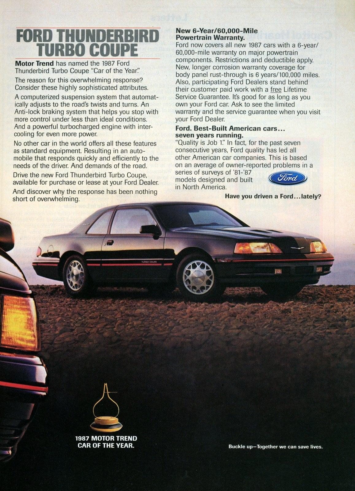 Vintage Ford Thunderbird cars - 1987 (1)