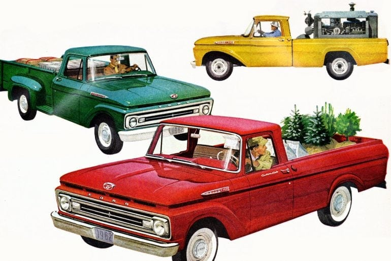 Vintage Ford pickup trucks