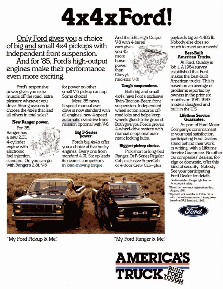 Vintage Ford pickup trucks from 1985 (1)