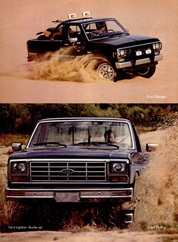 Vintage Ford pickup trucks from 1985 (2)