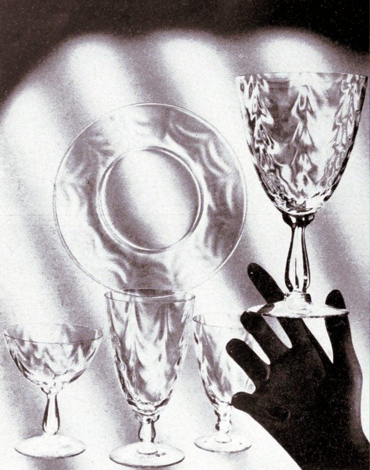 Vintage Fostoria glass - 1930s