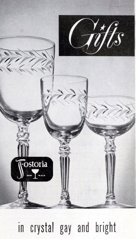 Vintage Fostoria glass - 1940s 1950s