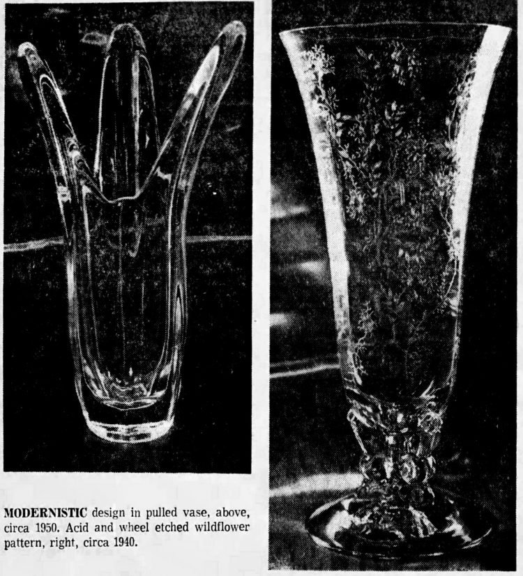 Vintage Fostoria glass examples