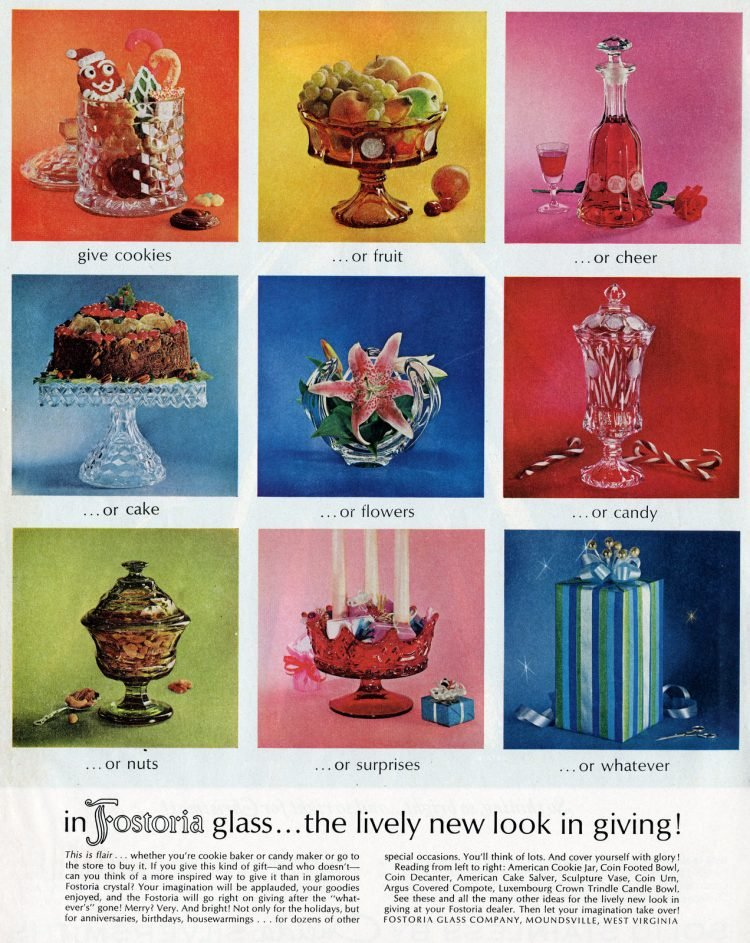Vintage Fostoria glass from 1964