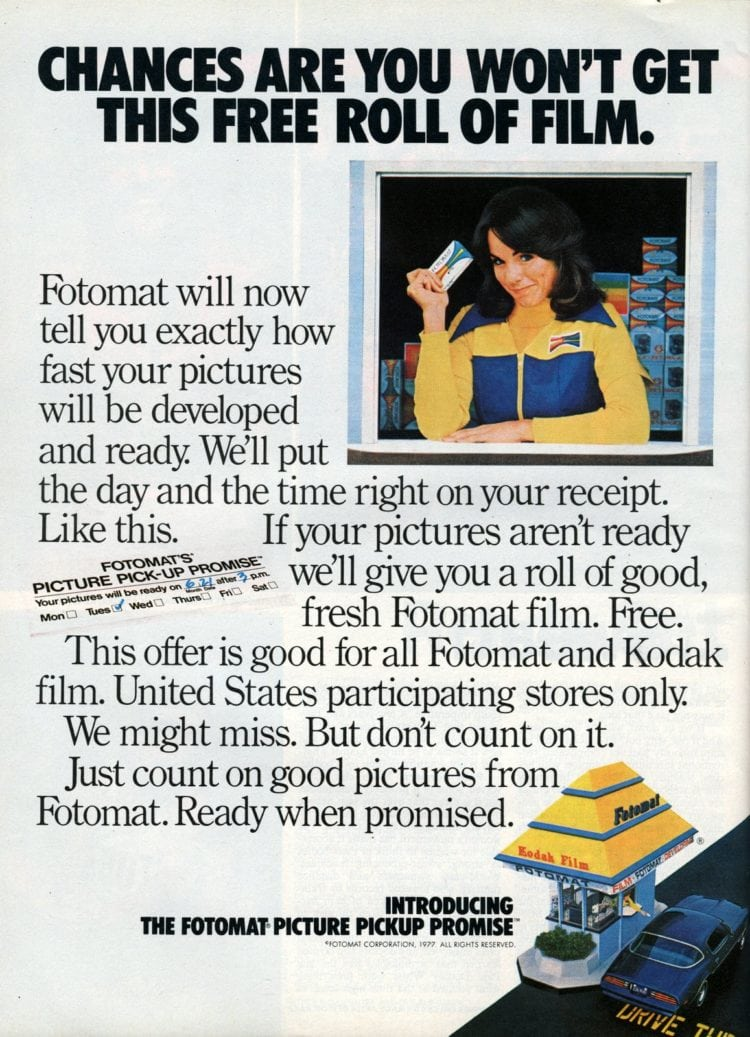 Vintage Fotomat photos ad 1977 (2)