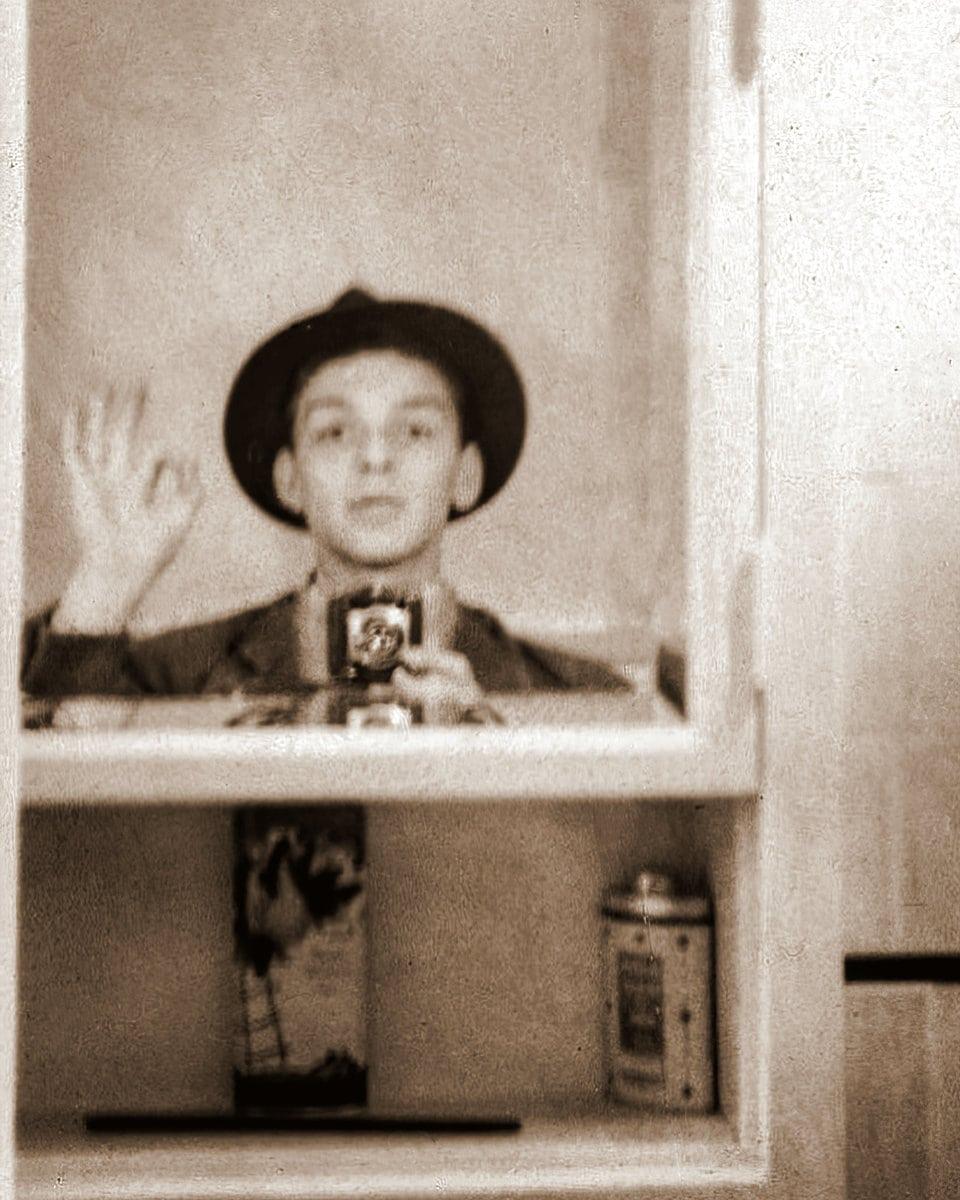 Vintage Frank Sinatra mirror selfie from 1938 at ClickAmericana com