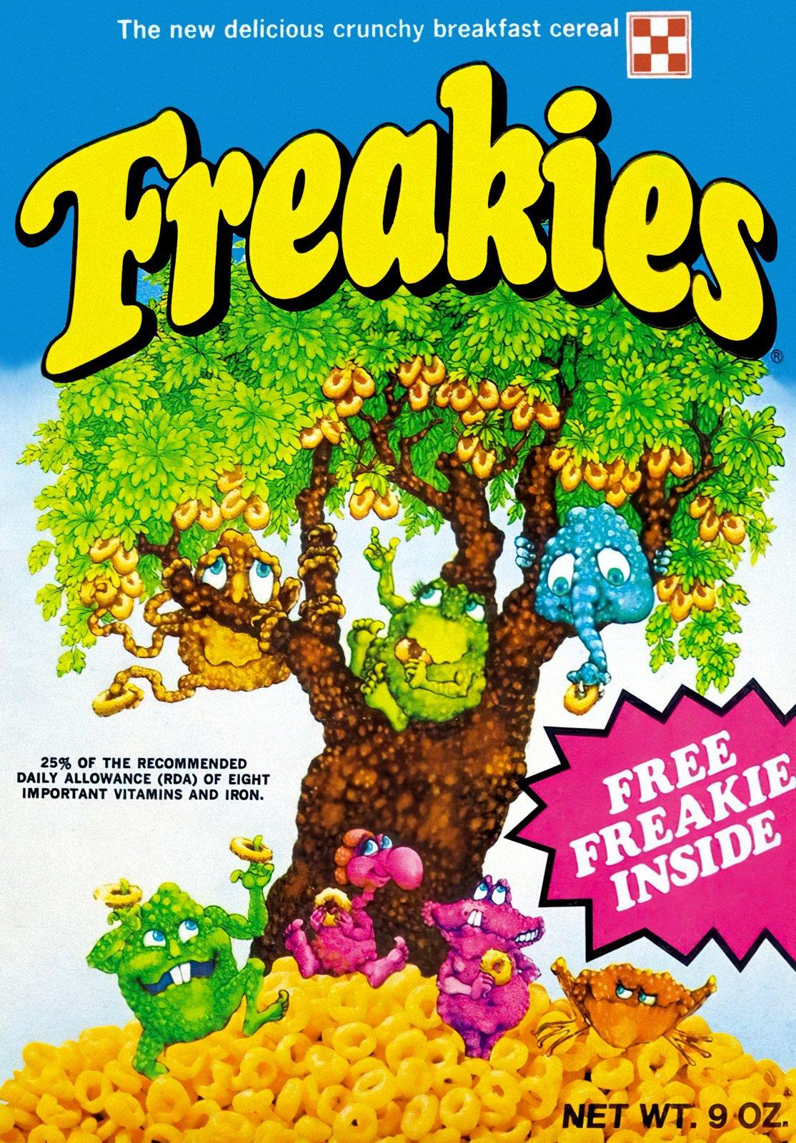 Vintage Freakies cereal box