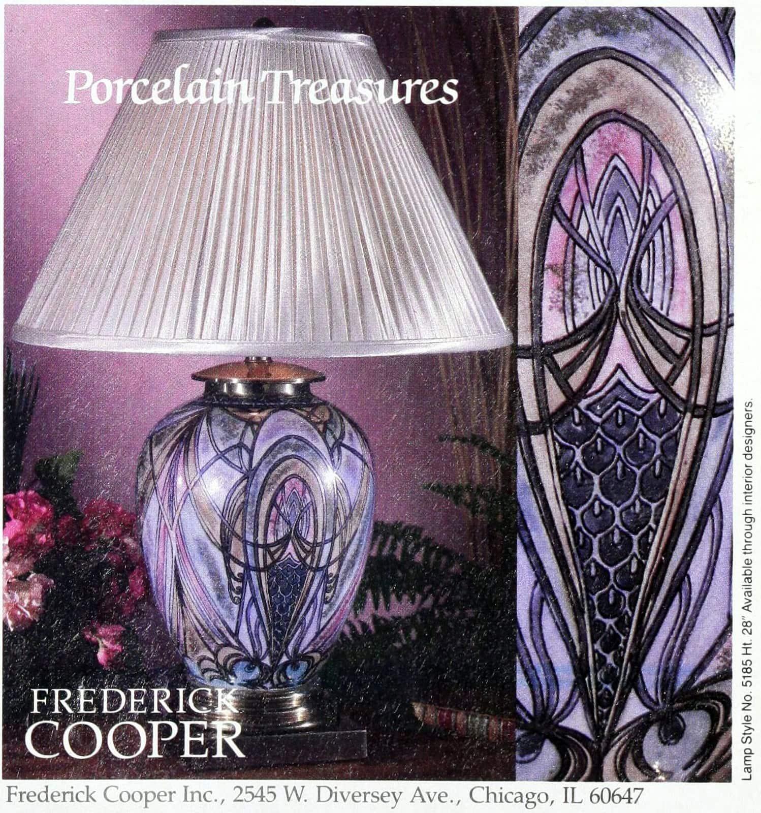 Vintage Frederick Cooper porcelain table lamp (1989)