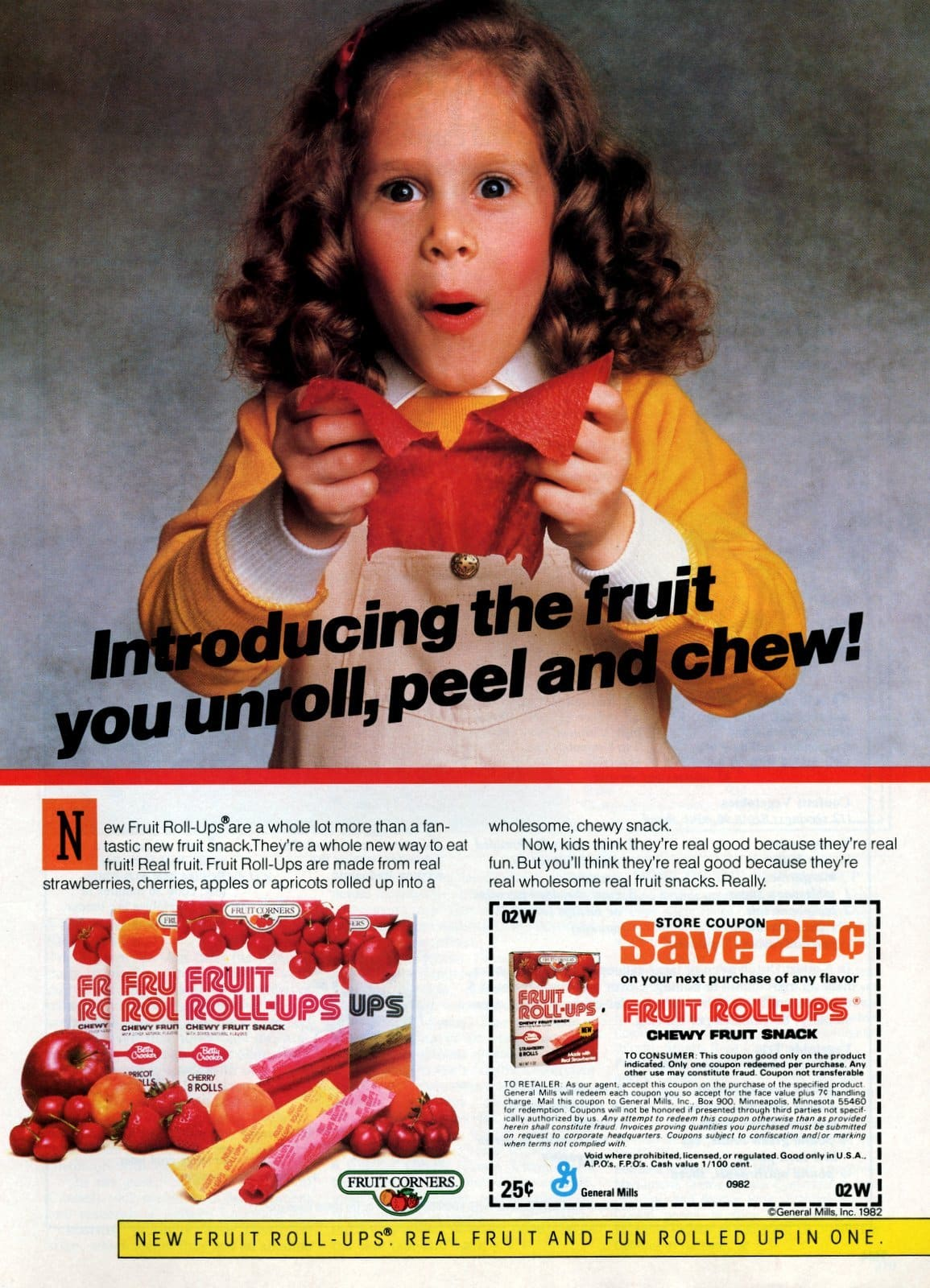 Vintage Fruit Roll-Ups from Fruit Corners (1982)
