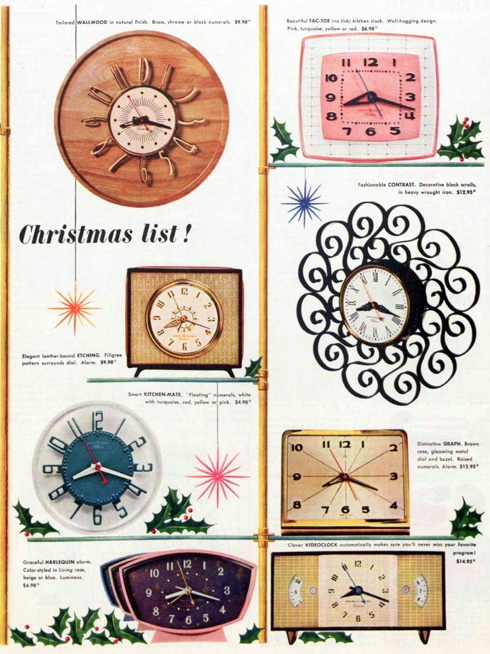 Vintage GE wall clocks from 1956 (1)